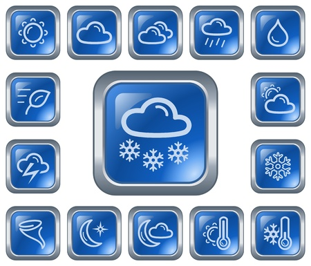 Weather button set Stock Vector - 17117573