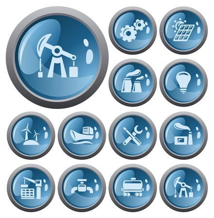 Industrial button set Illustration