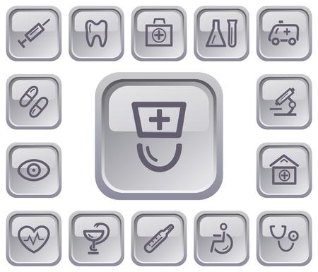 Medical button set Stock Vector - 18384831