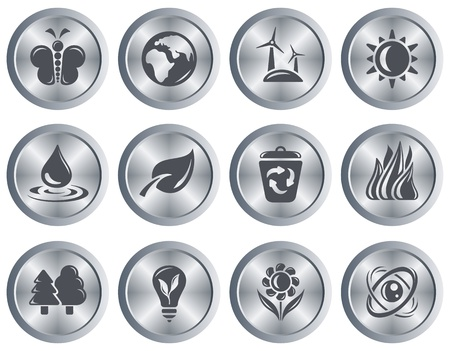Environment button set Stock Vector - 18418027