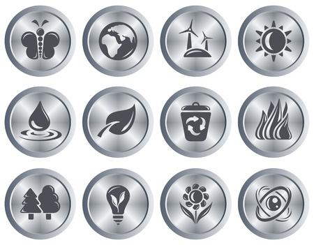 Environment button set Stock Vector - 18418027