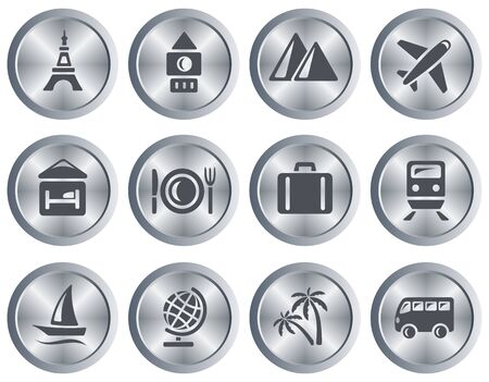 Travel button set Stock Vector - 18418019