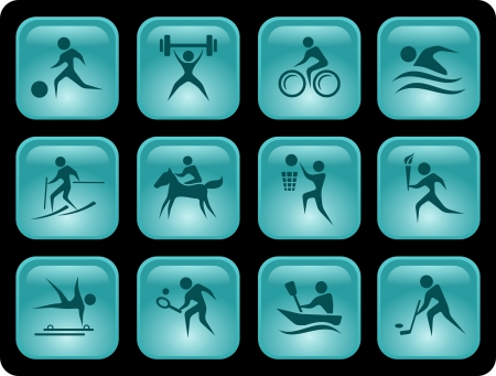jockey: Deporte conjunto de botones