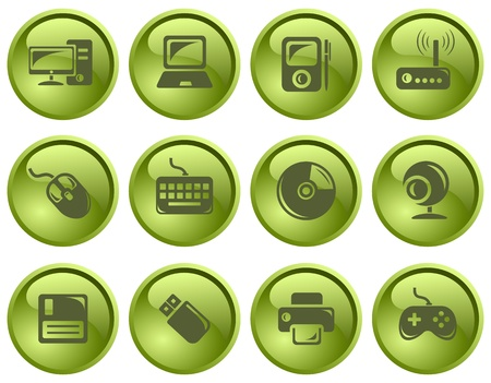 Hardware button set Illustration