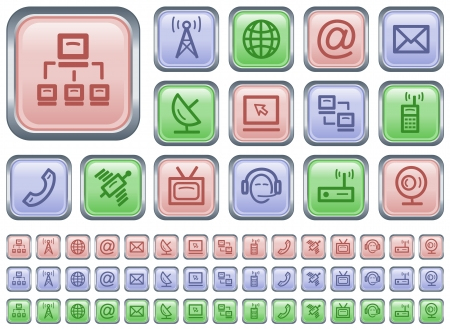 Communication button set Stock Vector - 21019995