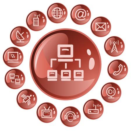 Communication button set Stock Vector - 21647849