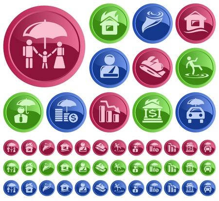 Insurance button set Stock Vector - 21822207