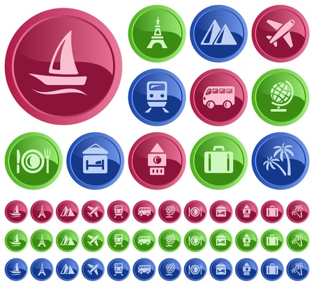 Travel button set Vector