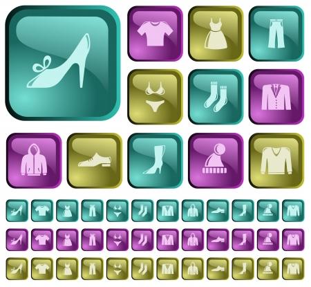 Clothes button set Stock Vector - 22230976