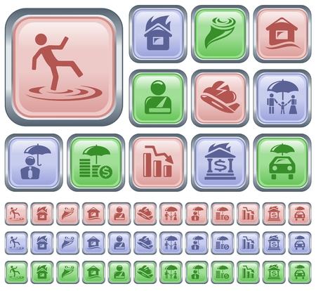 Insurance button set Stock Vector - 22405997
