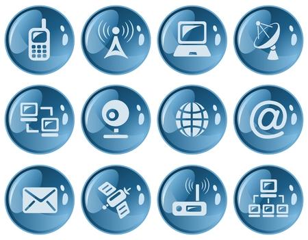 webcamera: Communication button set Illustration