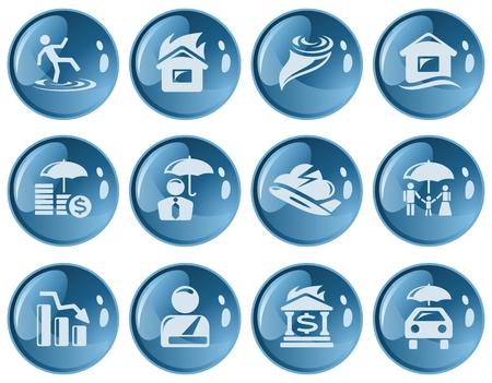 Insurance button set Stock Vector - 22774175