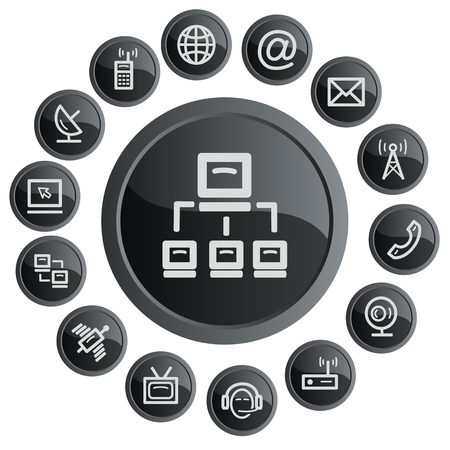 Communication button set Stock Vector - 22959589