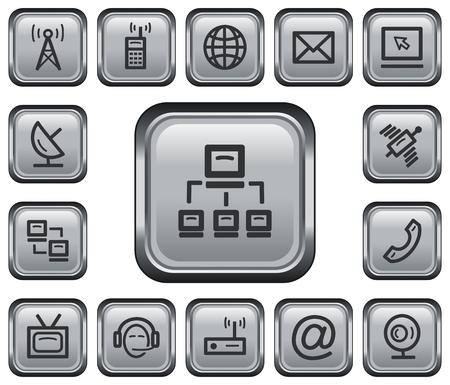 Communication button set Stock Vector - 23211363