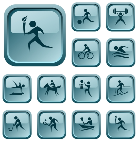 Sport button set Stock Vector - 23648871