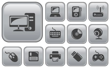 pocket pc: Hardware button set Illustration
