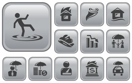 button set: Versicherungs-Taste Set Illustration