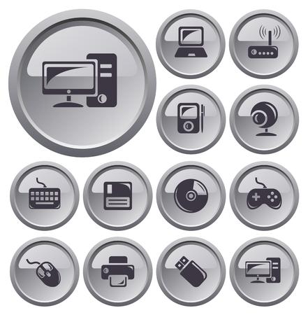 button set: Hardware Set-Taste Illustration