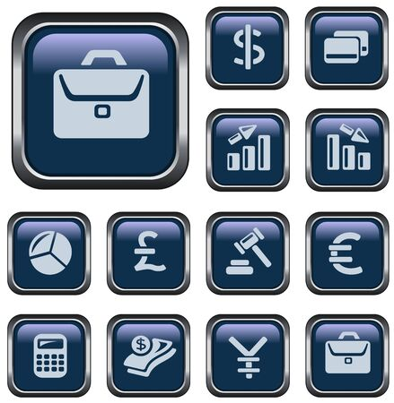 Finance button set Vector