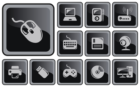 mouse pad: Hardware button set Illustration