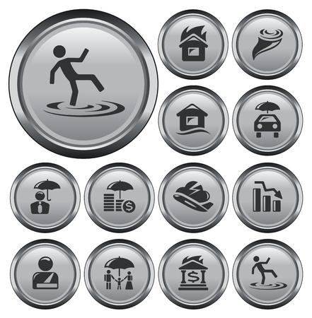 Insurance button set Stock Vector - 26048798