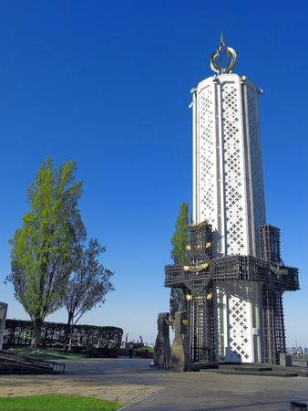 Holodomor memorial in Kiev, Ukraine