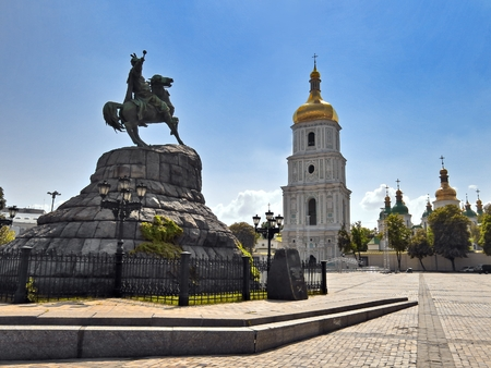 St  Sophia square in Kiev, Ukraine