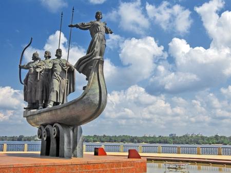 founders: Monument to city founders in Kiev, Ukraine