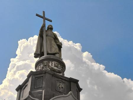 Prince Vladimir monument in Kiev, Ukraine Reklamní fotografie