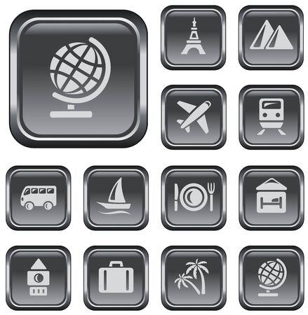 button set: Travel button set Illustration