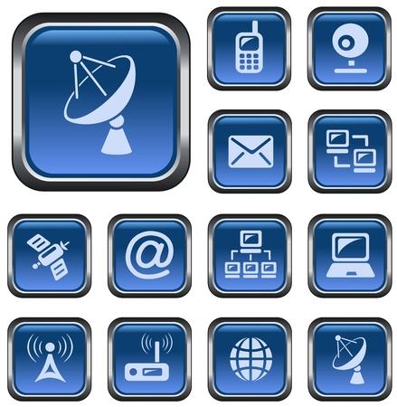 button set: Communication button set Illustration