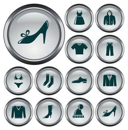 Clothes button set Vector