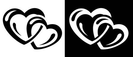 Hearts connection icon Vector