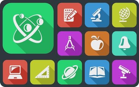 math icon: Education button set Illustration
