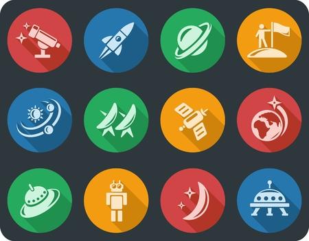 button set: Space-Taste Set Illustration
