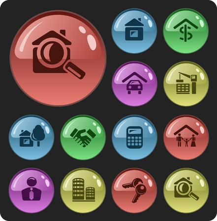 button set: Real estate button set