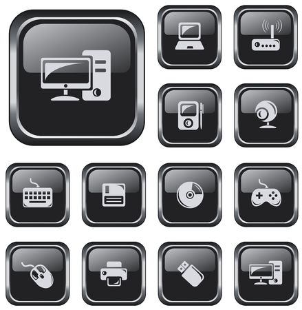 pocket pc: Hardware button set Illustration