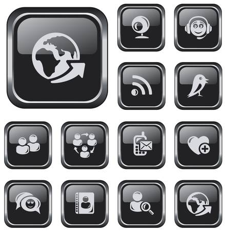 button set: Social network button set
