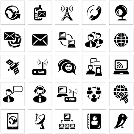 Communications icon set