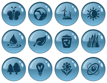 button set: Umwelt Taste Set Illustration