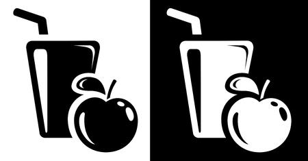 tubule: Apple juice icon Illustration