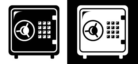 safe box: Safe icon Illustration