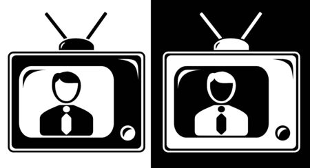 newscaster: TV news icon