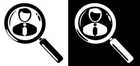 search icon: Werknemer zoekpictogram