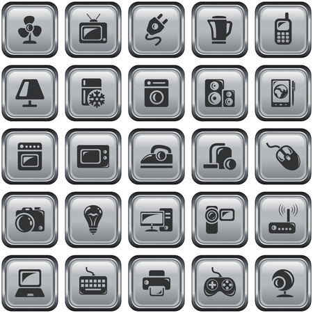 button set: Elektronik-Schaltfl�chen
