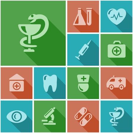 button set: Medizinische Taste Set