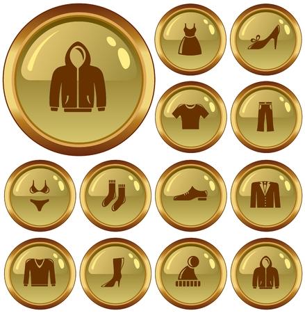 button set: Kleidung Button-Set