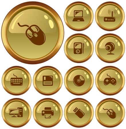 hardware: Hardware button set Illustration