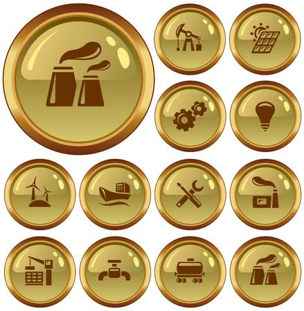 button set: Industrielle Button-Set