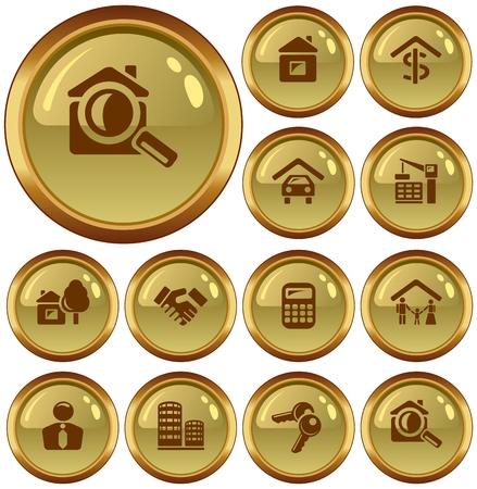 button set: Immobilien-Taste eingestellt